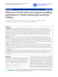 "báo cáo hóa học: "" Influence of virtual reality soccer game on walking performance in robotic assisted gait training for children"""