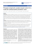 "báo cáo hóa học: ""Principal components analysis based control of a multi-dof underactuated prosthetic hand"""