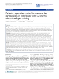 "Báo cáo hóa học: "" Patient-cooperative control increases active participation of individuals with SCI during robot-aided gait training"""