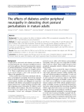 "Báo cáo hóa học: "" The effects of diabetes and/or peripheral neuropathy in detecting short postural perturbations in mature adults"""