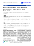 """Báo cáo hóa học: """"  Mechanisms underlying center of pressure displacements in obese subjects during quiet stance"""""""