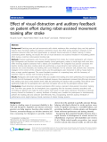 "Báo cáo hóa học: ""  Effect of visual distraction and auditory feedback on patient effort during robot-assisted movement training after stroke"""