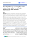"Báo cáo hóa học: "" Biomechanical energy harvesting from human motion: theory, state of the art, design guidelines, and future directions"""