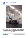 "Báo cáo hóa học: "" Gait training with partial body weight support during overground walking for individuals with chronic stroke: a pilot study"""