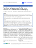 "Báo cáo hóa học: "" Validity of gait parameters for hip flexor contracture in patients with cerebral palsy"""