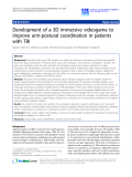 """Báo cáo hóa học: """" Development of a 3D immersive videogame to improve arm-postural coordination in patients with TBI"""""""