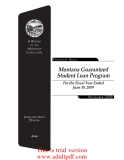 A Report Montana Legislature Financial Audit to the  Montana Guaranteed Student Loan Program For the Fiscal Year Ended June 30, 2009_part1