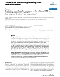 """báo cáo hóa học: """" Evaluation of methods for extraction of the volitional EMG in dynamic hybrid muscle activation"""""""