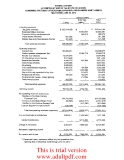 Summary of Balance Sheets _part4
