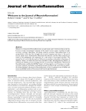 """báo cáo hóa học: """"  Welcome to the Journal of Neuroinflammation! """""""