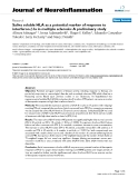 "báo cáo hóa học: ""  Saliva soluble HLA as a potential marker of response to interferon-β1a in multiple sclerosis: A preliminary study"""