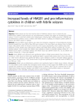 """báo cáo hóa học: """" Increased levels of HMGB1 and pro-inflammatory cytokines in children with febrile seizures"""""""