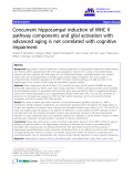 "báo cáo hóa học: "" Concurrent hippocampal induction of MHC II pathway components and glial activation with advanced aging is not correlated with cognitive impairment"""