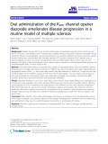 "báo cáo hóa học: ""  Oral administration of the KATP channel opener diazoxide ameliorates disease progression in a murine model of multiple sclerosis"""