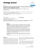 "Báo cáo hóa học: ""  Involvement of intracellular free Ca2+ in enhanced release of herpes simplex virus by hydrogen peroxide"""