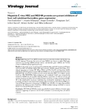 """Báo cáo hóa học: """" Hepatitis C virus NS2 and NS3/4A proteins are potent inhibitors of host cell cytokine/chemokine gene expression"""""""