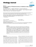 "Báo cáo hóa học: ""  Genetic analysis of Thailand hantavirus in Bandicota indica trapped in Thailand"""