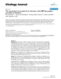"""Báo cáo hóa học: """" The association of complex liver disorders with HBV genotypes prevalent in Pakistan"""""""