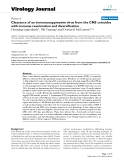 "Báo cáo hóa học: ""  Clearance of an immunosuppressive virus from the CNS coincides with immune reanimation and diversification"""