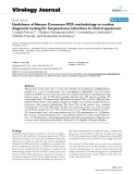 "Báo cáo hóa học: ""  Usefulness of Herpes Consensus PCR methodology to routine diagnostic testing for herpesviruses infections in clinical specimens"""