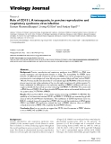 """Báo cáo hóa học: """"  Role of CD151, A tetraspanin, in porcine reproductive and respiratory syndrome virus infection"""""""