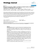 """Báo cáo hóa học: """"  Reduced expression of Jak-1 and Tyk-2 proteins leads to interferon resistance in Hepatitis C virus replicon"""""""