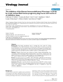 """Báo cáo hóa học: """" The inhibition of the Human Immunodeficiency Virus type 1 activity by crude and purified human pregnancy plug mucus and mucins in an inhibition assay"""""""