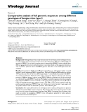 """Báo cáo hóa học: """"  Comparative analysis of full genomic sequences among different genotypes of dengue virus type 3"""""""