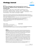 """Báo cáo hóa học: """"  Recovery of divergent avian bornaviruses from cases of proventricular dilatation disease: Identification of a candidate etiologic agent"""""""