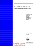 Financial Audit of the Hawaii Public Employees Health Fund  A Report to the Governor and the Legislature of the State of Hawaii_part1