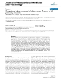 """Báo cáo hóa học: """" Occupational injury proneness in Indian women: A survey in fish processing industries"""""""