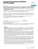 "báo cáo hóa học: ""  Persistently elevated T cell interferon-γ responses after treatment for latent tuberculosis infection among health care workers in India: a preliminary report"""
