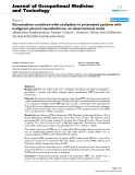 "báo cáo hóa học: ""  Gemcitabine combined with oxaliplatin in pretreated patients with malignant pleural mesothelioma: an observational study"""