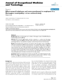 """báo cáo hóa học: """"  Effort-reward imbalance and overcommitment in employees in a Norwegian municipality: a cross sectional study"""""""