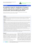 """báo cáo hóa học: """"   Air pollution research: visualization of research activity using density-equalizing mapping and scientometric benchmarking procedures"""""""