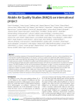 "báo cáo hóa học: ""   Mobile Air Quality Studies (MAQS)-an international project"""