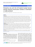 "báo cáo hóa học: ""  Enterprise size and risk of hospital treated injuries among manual construction workers in Denmark: a study protocol"""