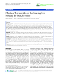 "báo cáo hóa học: "" Effects of furosemide on the hearing loss induced by impulse noise"""
