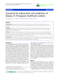 "báo cáo hóa học: ""  Screening for tuberculosis and prediction of disease in Portuguese healthcare workers"""