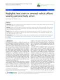 "báo cáo hóa học: ""  Negligible heat strain in armored vehicle officers wearing personal body armor"""