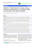 "báo cáo hóa học: "" Initiation of health-behaviour change among employees participating in a web-based health risk assessment with tailored feedback"""