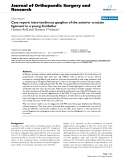"báo cáo hóa học:""   Case report: intra-tendinous ganglion of the anterior cruciate ligament in a young footballer"""