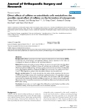 "báo cáo hóa học:""   Direct effects of caffeine on osteoblastic cells metabolism: the possible causal effect of caffeine on the formation of osteoporosis"""