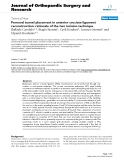 "báo cáo hóa học:""  Femoral tunnel placement in anterior cruciate ligament reconstruction: rationale of the two incision technique"""