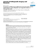 """báo cáo hóa học:""""   Comparison of effectiveness of Halo-femoral traction after anterior spinal release in severe idiopathic and congenital scoliosis: a retrospective study"""""""
