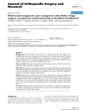 "báo cáo hóa học:""  Multi-modal-analgesia for pain management after Hallux Valgus surgery: a prospective randomised study on the effect of ankle block"""