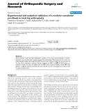 """báo cáo hóa học:""""  Experimental and analytical validation of a modular acetabular prosthesis in total hip arthroplasty"""""""