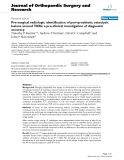 "báo cáo hóa học:"" Pre-surgical radiologic identification of peri-prosthetic osteolytic lesions around TKRs: a pre-clinical investigation of diagnostic accuracy"""