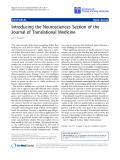 """báo cáo hóa học:""""  Introducing the Neurosciences Section of the Journal of Translational Medicine"""""""