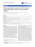 "báo cáo hóa học:""  Deep sequencing of gastric carcinoma reveals somatic mutations relevant to personalized medicine"""